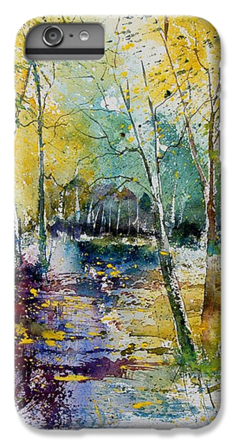 Pond IPhone 6 Plus Case featuring the painting Watercolor 280809 by Pol Ledent