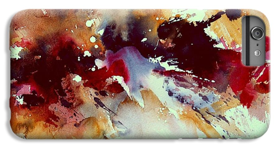 Abstract IPhone 6 Plus Case featuring the painting Watercolor 301107 by Pol Ledent