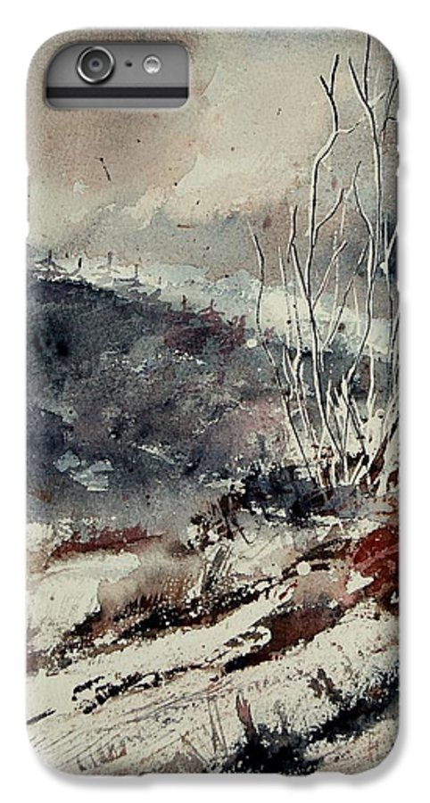 Snow IPhone 6 Plus Case featuring the print Watercolor 446 by Pol Ledent