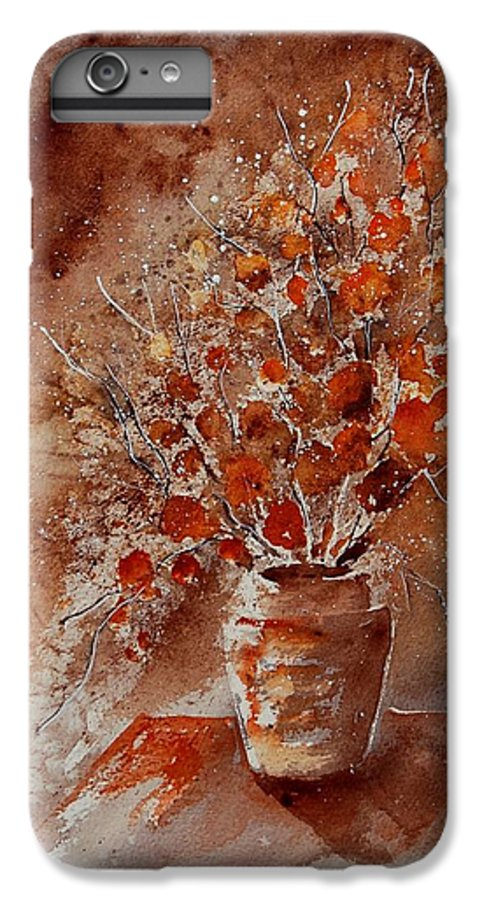 Poppies IPhone 6 Plus Case featuring the painting Watercolor Autumn Bunch by Pol Ledent