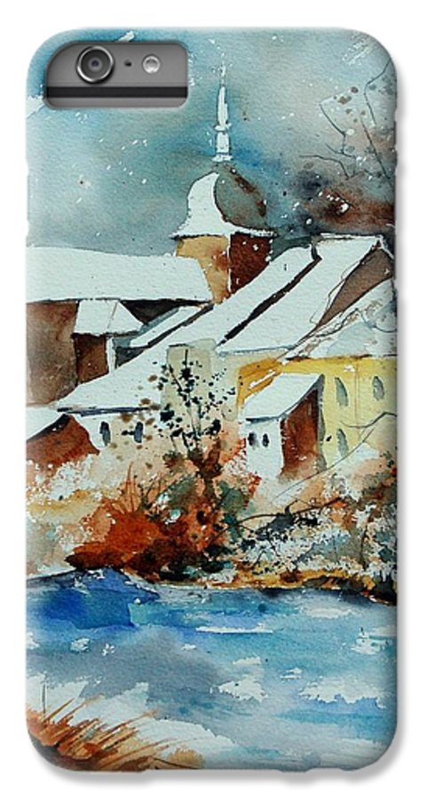 Landscape IPhone 6 Plus Case featuring the painting Watercolor Chassepierre by Pol Ledent