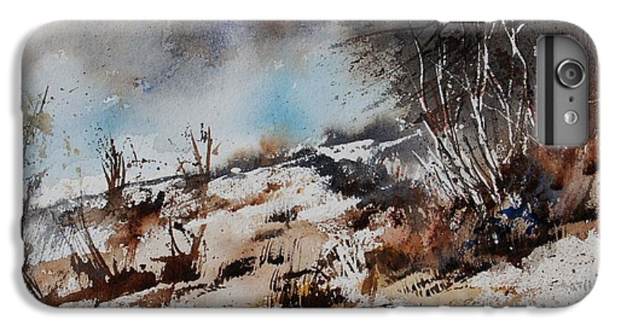 River IPhone 6 Plus Case featuring the painting Watercolor Jjook by Pol Ledent