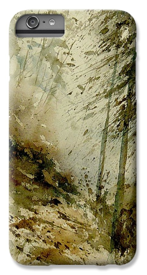 Landscape IPhone 6 Plus Case featuring the painting Watercolor Misty Atmosphere by Pol Ledent