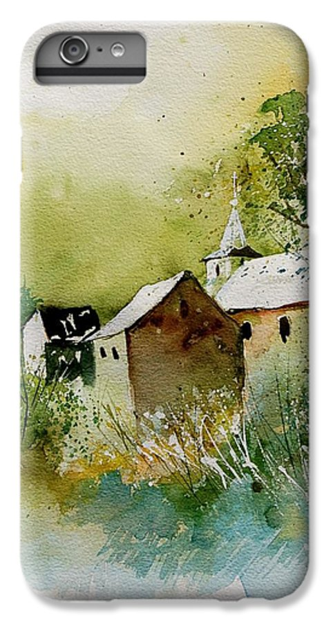 Landscape IPhone 6 Plus Case featuring the painting Watercolor Sosoye by Pol Ledent
