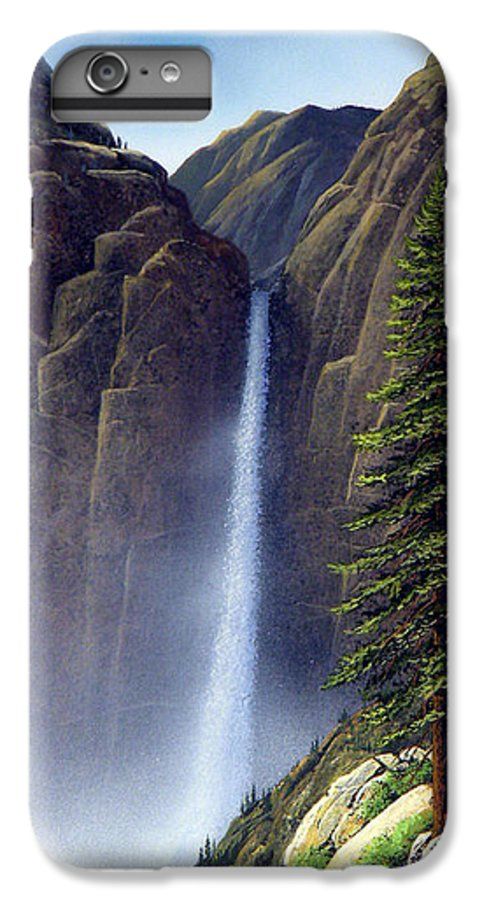 Wilderness IPhone 6 Plus Case featuring the painting Waterfall by Frank Wilson