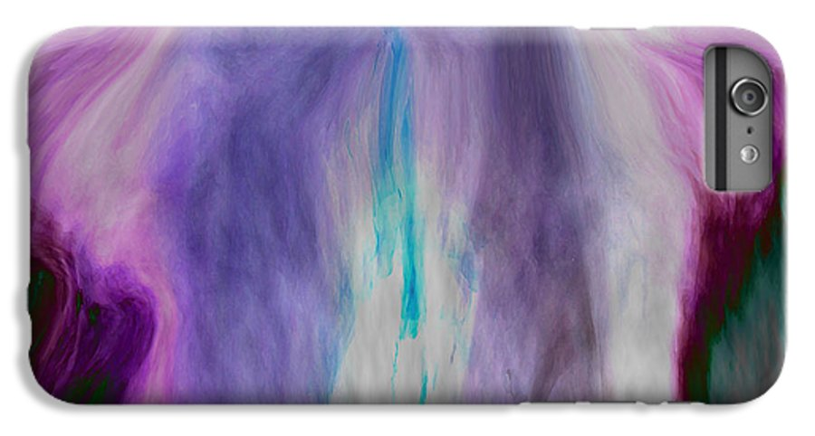 Abstract Art IPhone 6 Plus Case featuring the digital art Waterfall by Linda Sannuti