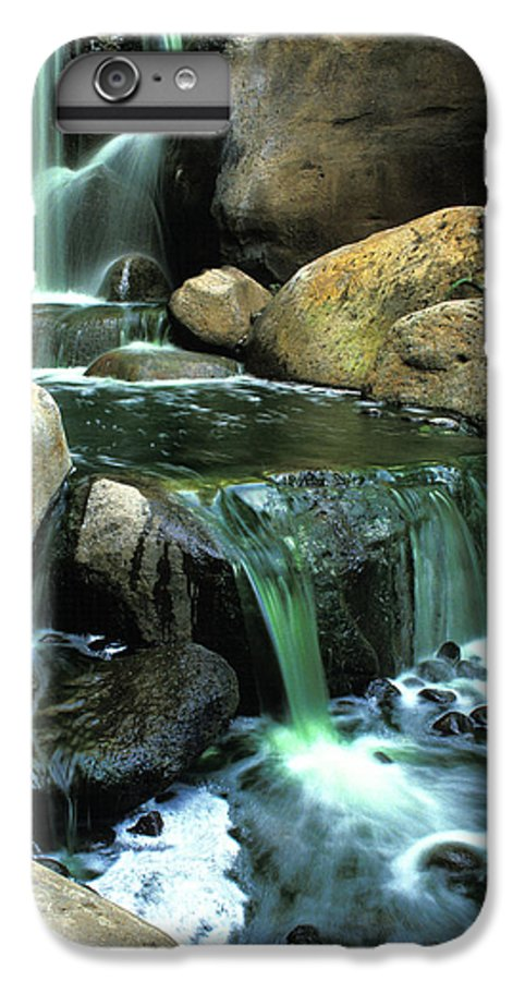 Water IPhone 6 Plus Case featuring the photograph Waterfall On Maui by Carl Purcell