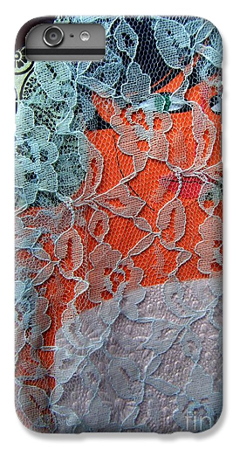 Portrait IPhone 6 Plus Case featuring the mixed media Wedding Mask by Debra Bretton Robinson