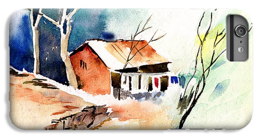Nature IPhone 6 Plus Case featuring the painting Weekend House by Anil Nene