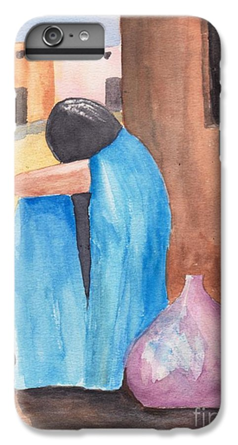 Southwest IPhone 6 Plus Case featuring the painting Weeping Woman by Susan Kubes