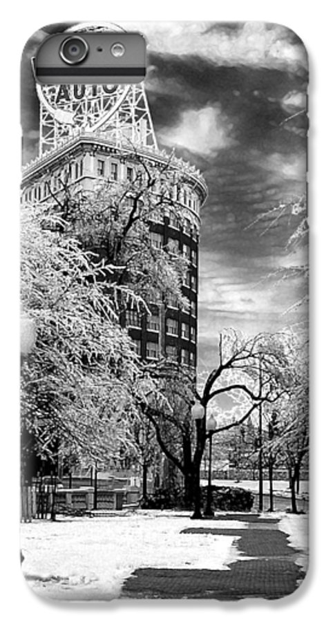 Western Auto Kansas City IPhone 6 Plus Case featuring the photograph Western Auto In Winter by Steve Karol