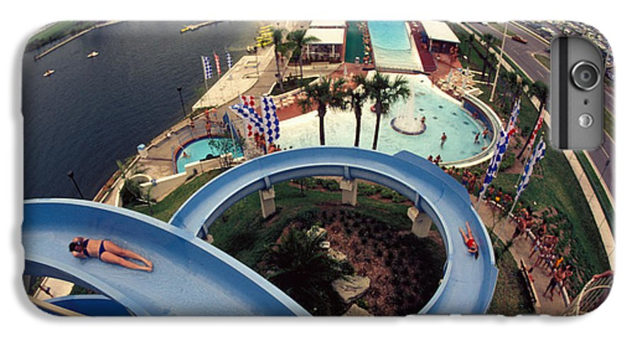 Waterslide IPhone 6 Plus Case featuring the photograph Wet And Wild by Carl Purcell