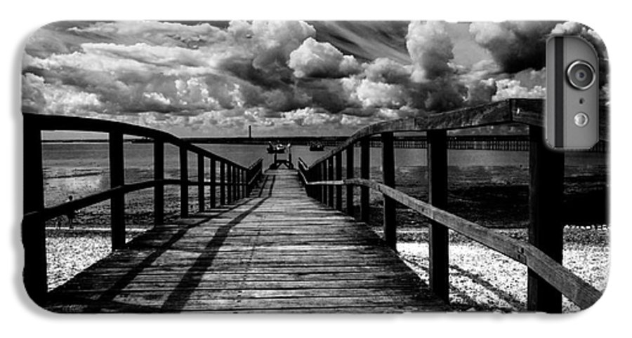 Southend On Sea Wharf Clouds Beach Sand IPhone 6 Plus Case featuring the photograph Wharf At Southend On Sea by Sheila Smart Fine Art Photography