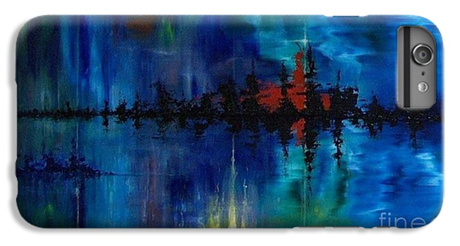 Non Objective IPhone 6 Plus Case featuring the painting What Lies Beneath by M J Venrick