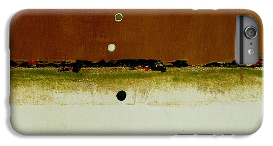 Abstract IPhone 6 Plus Case featuring the painting Whats Your Line by Ruth Palmer