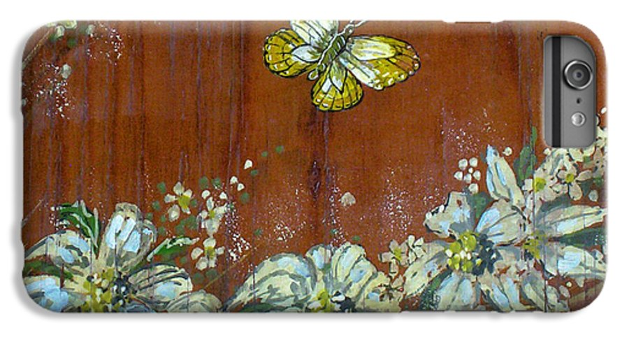 Wildflowers IPhone 6 Plus Case featuring the painting Wheat 'n' Wildflowers IIi by Phyllis Mae Richardson Fisher