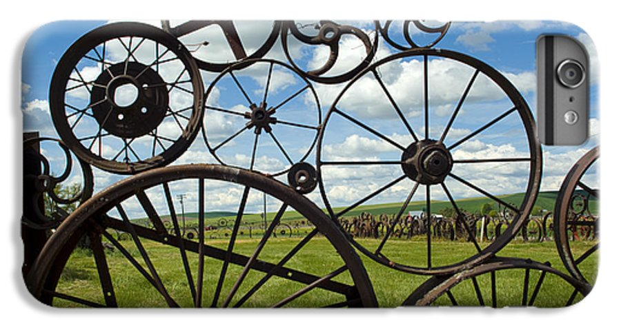 Wheels IPhone 6 Plus Case featuring the photograph Wheels by Louise Magno