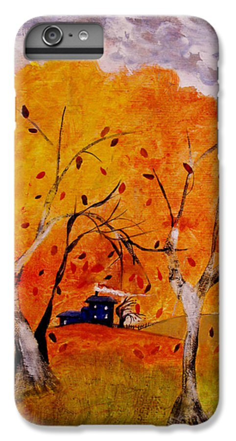 Abstract IPhone 6 Plus Case featuring the painting Whimsical Wind by Ruth Palmer