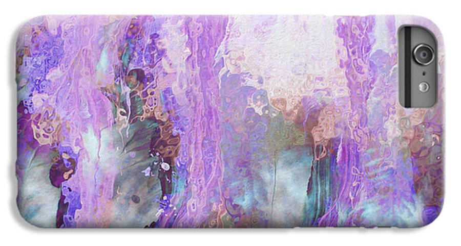 Abstract Art IPhone 6 Plus Case featuring the digital art Whisper Softly by Linda Murphy