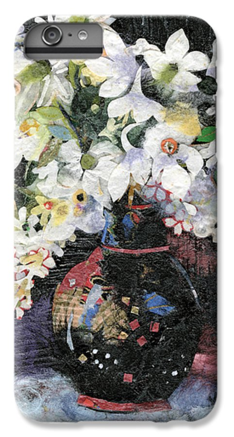 Limited Edition Prints IPhone 6 Plus Case featuring the painting White Celebration by Nira Schwartz