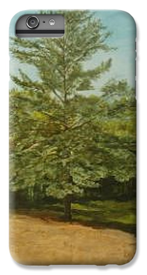 Pine Tree IPhone 6 Plus Case featuring the painting White Lake by Leah Tomaino