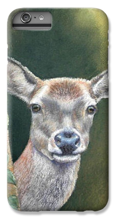 Rainforest IPhone 6 Plus Case featuring the painting White Tail Doe At Ancon Hill by Ceci Watson
