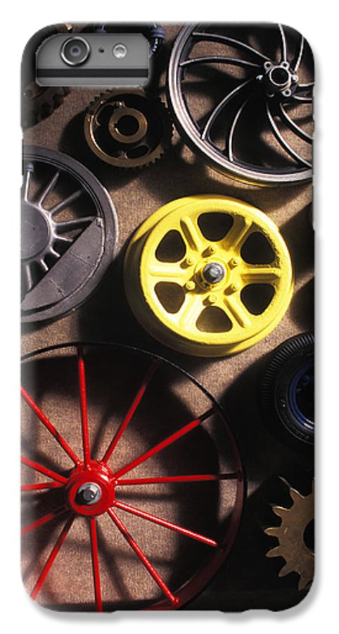 Red IPhone 6 Plus Case featuring the photograph Who Invented The Wheel? by Carl Purcell
