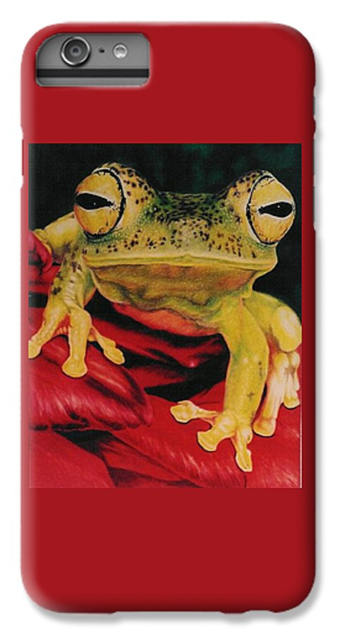 Art IPhone 6 Plus Case featuring the drawing Who Loves Ya by Barbara Keith