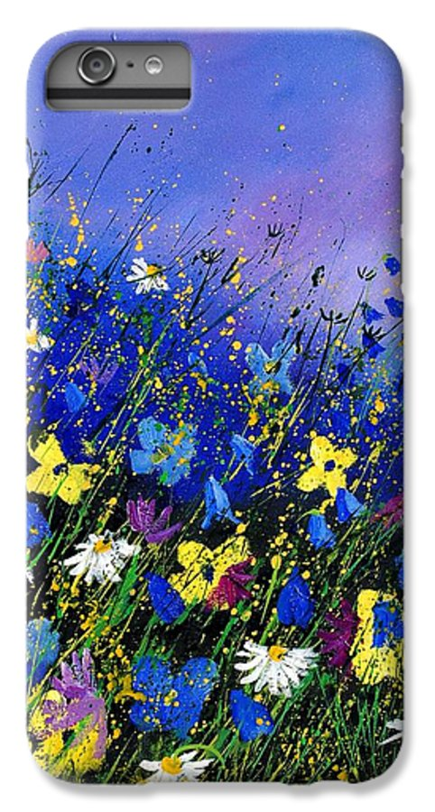 Flowers IPhone 6 Plus Case featuring the painting Wild Flowers 560908 by Pol Ledent