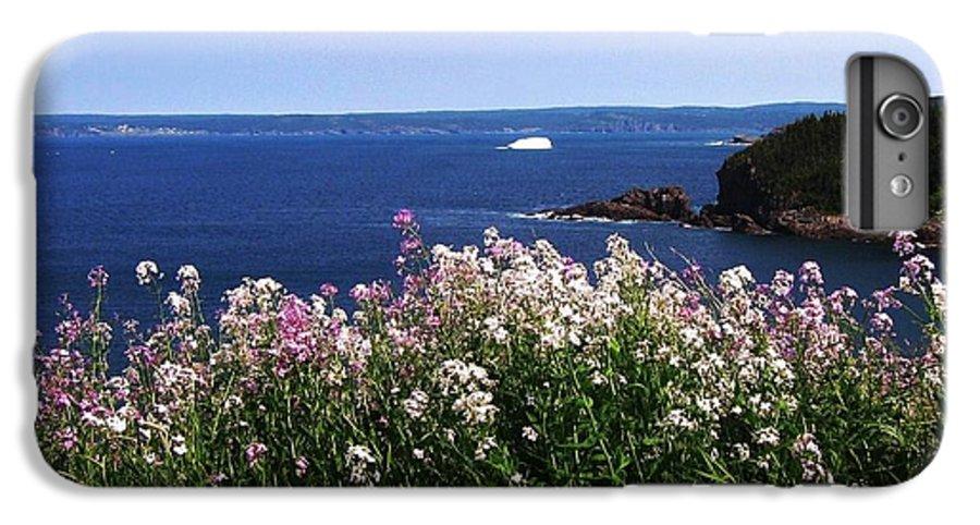 Photograph Iceberg Wild Flower Atlantic Ocean Newfoundland IPhone 6 Plus Case featuring the photograph Wild Flowers And Iceberg by Seon-Jeong Kim