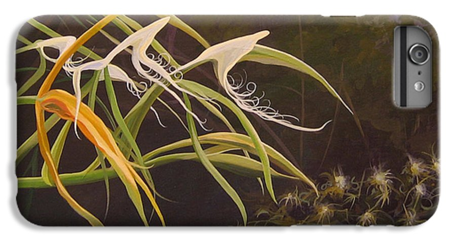 Caribbean IPhone 6 Plus Case featuring the painting Wild Orchids by Hunter Jay