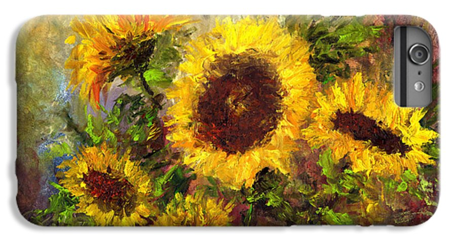 Vincent Van Gogh IPhone 6 Plus Case featuring the painting Wild Sun by Laura Swink