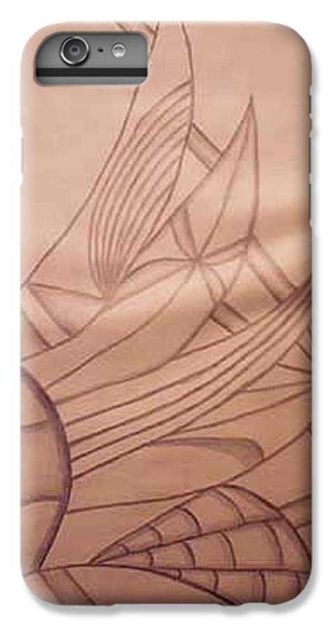 Abstract IPhone 6 Plus Case featuring the drawing Wild Vines by Natalee Parochka