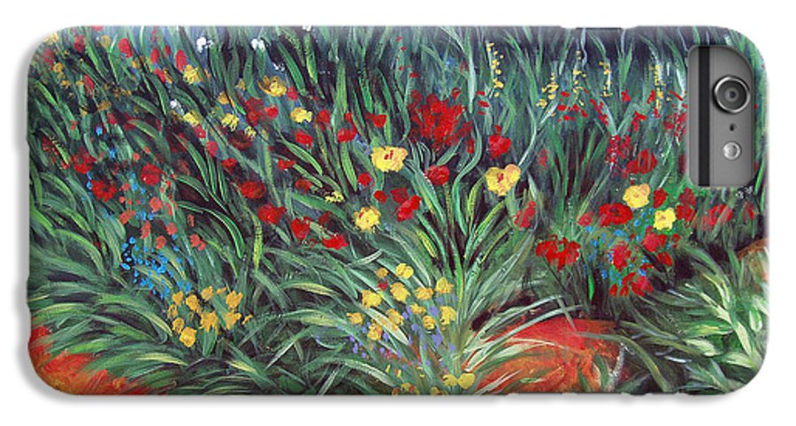 Landscape IPhone 6 Plus Case featuring the painting Wildflower Garden 2 by Nancy Mueller