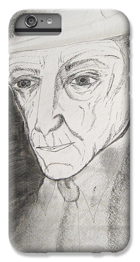 23 Author Black Burroughs Enigma Ink Man Music Painting Portrait Revolutionary Watercolor William IPhone 6 Plus Case featuring the painting William S. Burroughs by Darkest Artist
