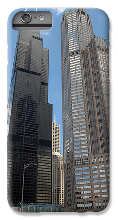3scape IPhone 6 Plus Case featuring the photograph Willis Tower Aka Sears Tower And 311 South Wacker Drive by Adam Romanowicz