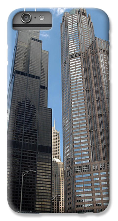 3scape Photos IPhone 6 Plus Case featuring the photograph Willis Tower Aka Sears Tower And 311 South Wacker Drive by Adam Romanowicz
