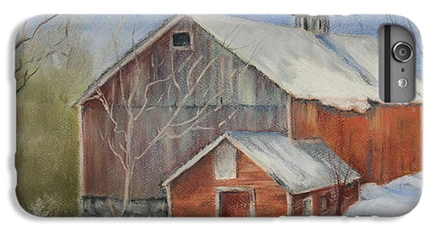 Barn IPhone 6 Plus Case featuring the painting Williston Barn by Carol Mueller