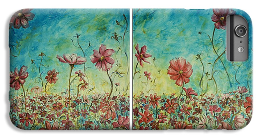 Flowers IPhone 6 Plus Case featuring the painting Wind Dancers by Nik Helbig