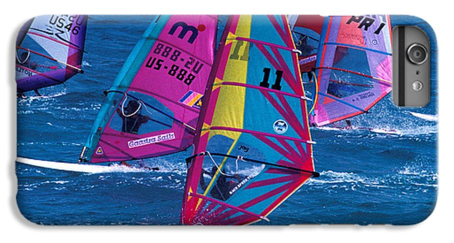 Wind IPhone 6 Plus Case featuring the photograph Wind Surfers In Nassau by Carl Purcell