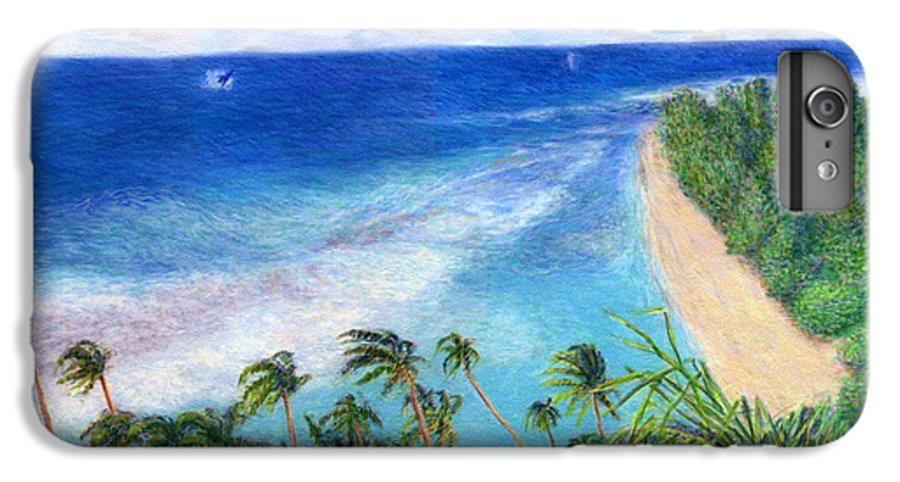 Rainbow Colors Pastel IPhone 6 Plus Case featuring the painting Windblown by Kenneth Grzesik