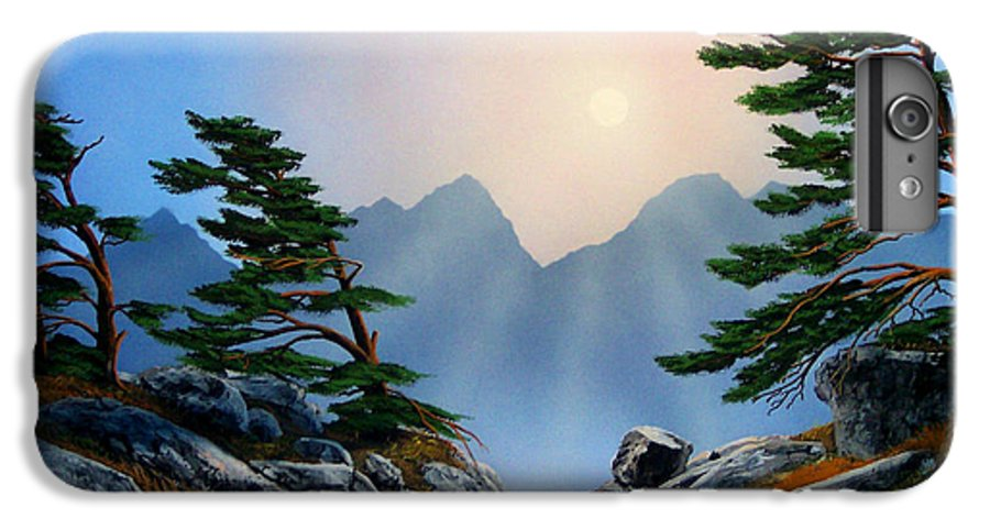Windblown Pines IPhone 6 Plus Case featuring the painting Windblown Pines by Frank Wilson