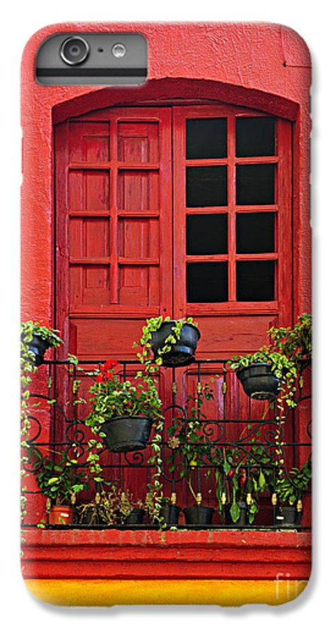Window IPhone 6 Plus Case featuring the photograph Window On Mexican House by Elena Elisseeva
