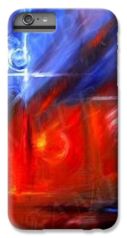 Abstracts IPhone 6 Plus Case featuring the painting Windows by James Christopher Hill