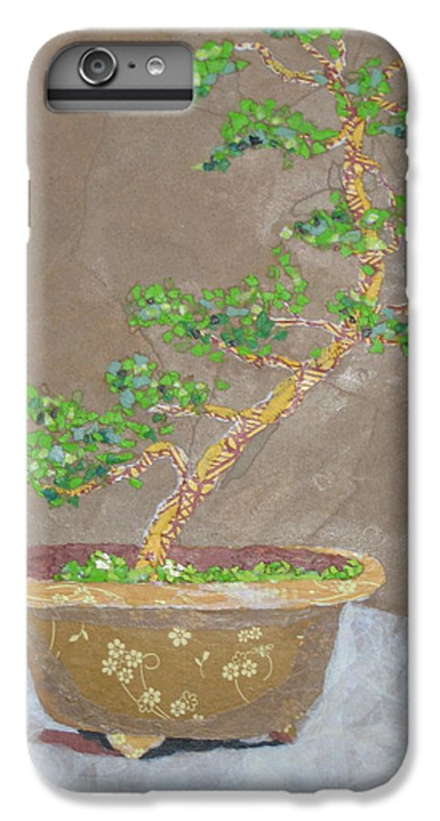 Banzai Tree IPhone 6 Plus Case featuring the painting Windswept Juniper by Leah Tomaino