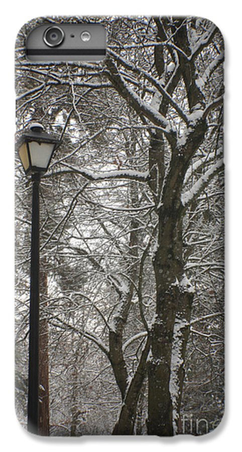 Lamp IPhone 6 Plus Case featuring the photograph Winter Lamp Post by Idaho Scenic Images Linda Lantzy