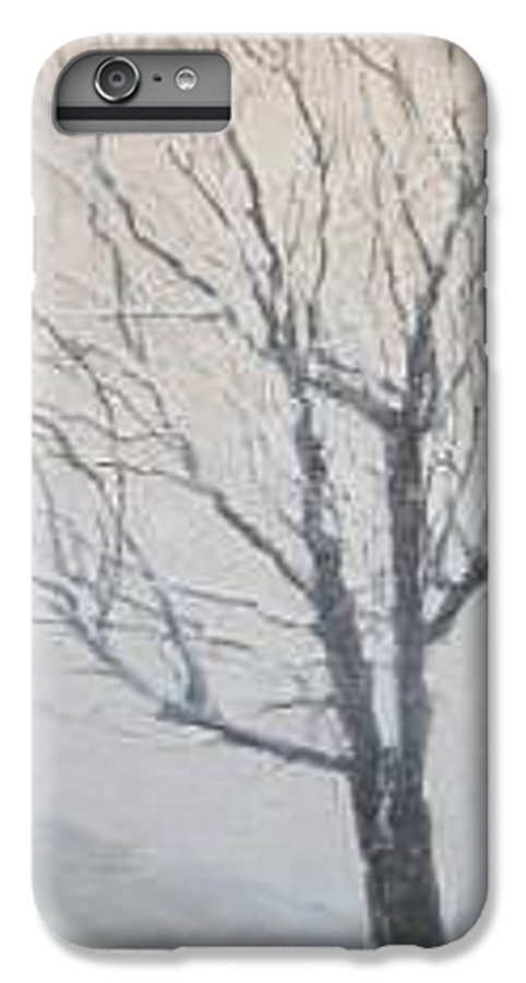 Tree IPhone 6 Plus Case featuring the painting Winter by Leah Tomaino
