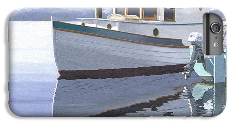 Marine IPhone 6 Plus Case featuring the painting Winter Moorage by Gary Giacomelli