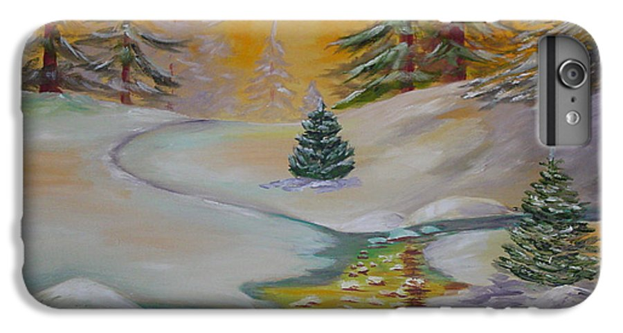 Winter IPhone 6 Plus Case featuring the painting Winter by Quwatha Valentine