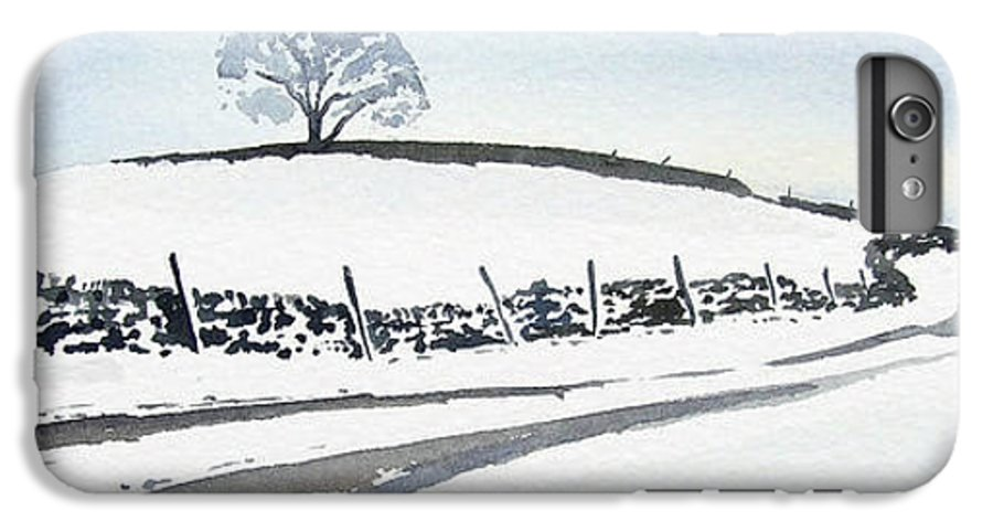 Snowscene In The Yorkshire Dales IPhone 6 Plus Case featuring the painting Winter Snow In The Dales by Paul Dene Marlor